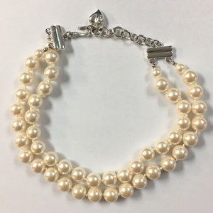Carolee double strand pearl necklace